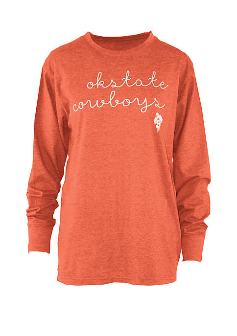 NCAA Oklahoma State Cowboys Reagan Script Melange T-Shirt