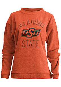 Oklahoma State Cowboys Thin Arch Mock Neck Twisted Terry Fleece Pullover