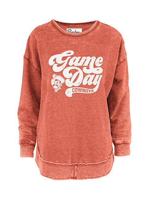 Oklahoma State Cowboys Roxy Script Vintage Wash Fleece Top