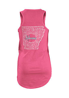 ROYCE Arkansas Curls and Lace State Tank Top