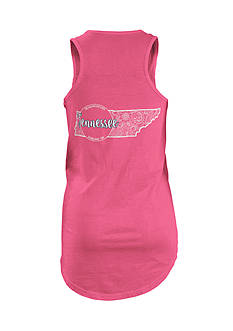 ROYCE Tennessee Curls and Lace State Tank Top