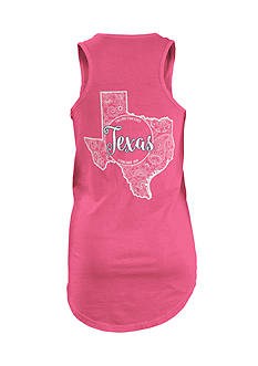 ROYCE Texas Curls and Lace State Tank Top