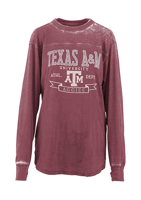 ROYCE Long Sleeve Texas A&M Debbie Piston Oversized