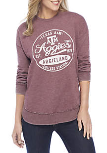 Texas A&M Aggies Surfer Stamp High-Low Fleece Sweater