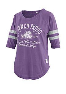 ROYCE TCU Horned Frogs Jade Vintage Wash Jersey T Shirt