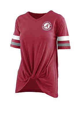 19a0083143c ROYCE Alabama Crimson Tide Twist Front Knot T Shirt ...