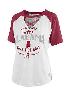 065dbf80 ROYCE Alabama Crimson Tide Cross Neck Baseball T Shirt ...