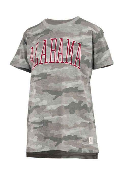 Womens NCAA Alabama Crimson Tide Austin Short Sleeve Camo T-Shirt