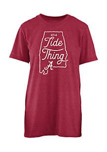 Short Sleeve Alabama Crimson Tide Its A School Thing Crew Neck Tee