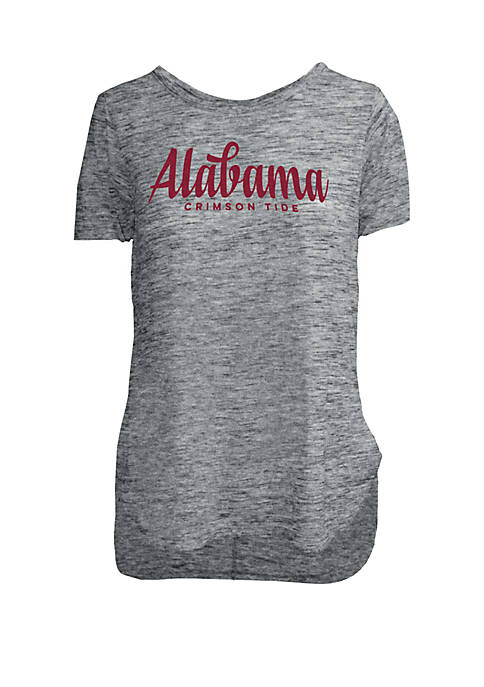 ROYCE Alabama Crimson Tide Chenille Rounded Hem T