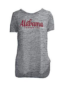 ROYCE Alabama Crimson Tide Chenille Rounded Hem T Shirt