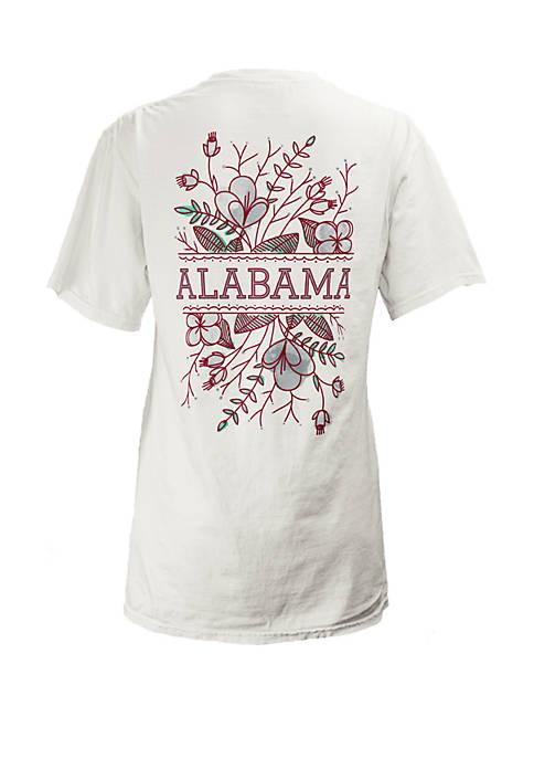 ROYCE Alabama Crimson Tide Short Sleeve Floral T