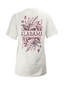 ROYCE Alabama Crimson Tide Short Sleeve Floral T Shirt