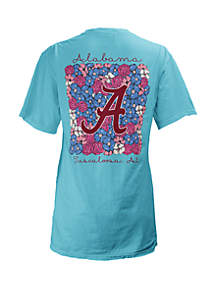 ROYCE Alabama Crimson Tide Floral Bunch Coastal T Shirt