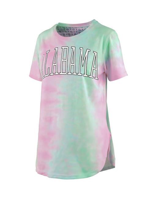 NCAA Alabama Crimson Tide Short Sleeve Bay Tie Dye T-Shirt