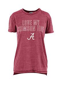 ROYCE Alabama Crimson Tide Love Lines Vintage Wash T Shirt