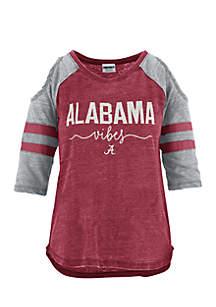 Alabama School Vibes Vintage Cold Shoulder Tee