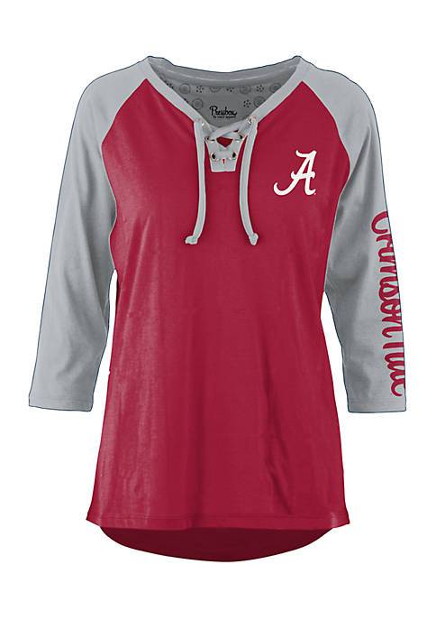 ROYCE Alabama Crimson Tide Lace Neck 3/4 Sleeve