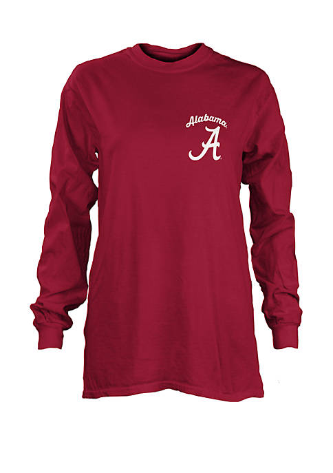 Alabama Crimson Tide Long Sleeve Campbell Medallion T Shirt