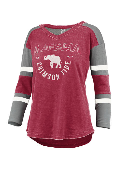 Womens NCAA Alabama Crimson Tide Lizzy Varsity Top