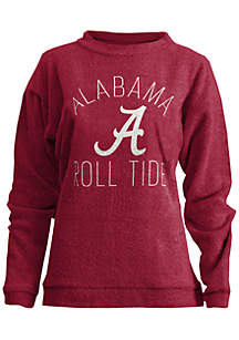 Alabama Roll Tide Thin Arch Mock Neck Twisted Terry Fleece Pullover