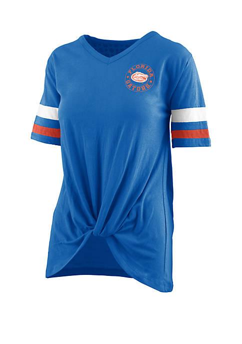 ROYCE Florida Gators Twist Front Knot T Shirt