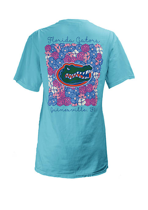 ROYCE Florida Gators Floral Bunch Coastal T Shirt