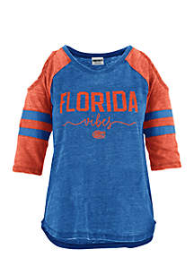Florida Short Sleeve School Vibes Vintage Cold Shoulder Tee