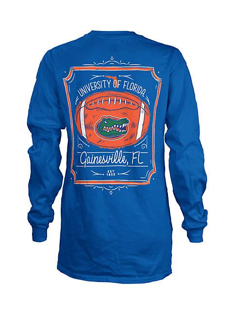 ROYCE Florida Gators Long Sleeve Framed Football T