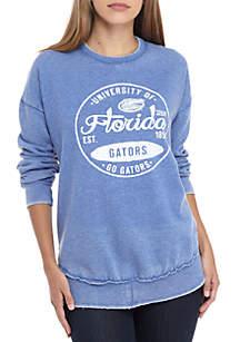 Florida Gators Surfer Stamp High-Low Fleece Sweater