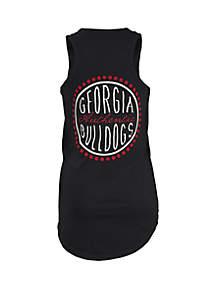 ROYCE Georgia Bulldogs Curly Sue Coastal Tank