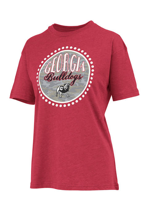 Pressbox Womens NCAA Georgia Bulldogs Curly Camo T-Shirt