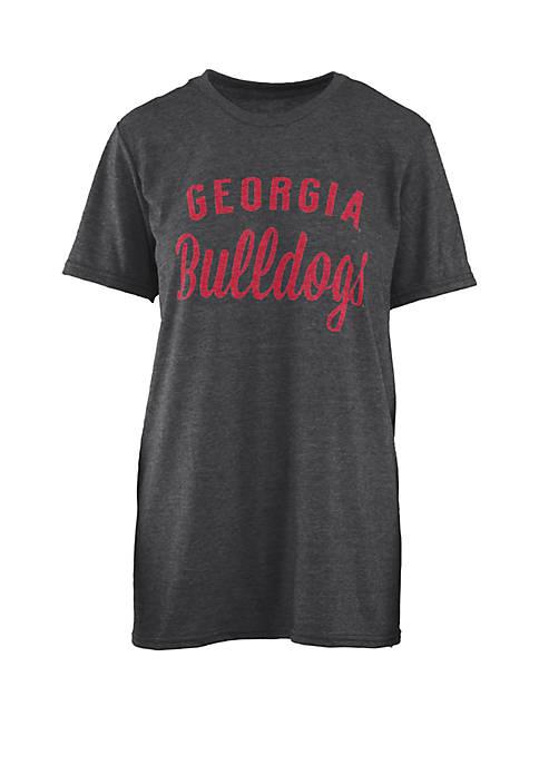 Georgia Bulldogs Trudy Melange T Shirt