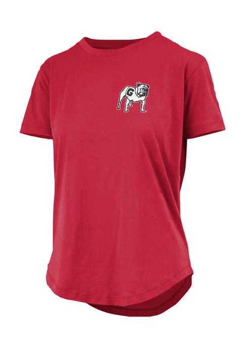 Pressbox Womens NCAA Georgia Bulldogs Short Sleeve Curly