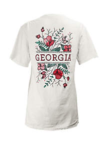 ROYCE Georgia Bulldogs Short Sleeve Floral T Shirt