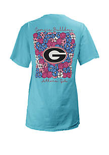ROYCE Georgia Bulldogs Floral Bunch Coastal T Shirt
