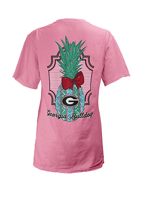 Georgia Bulldogs Maisie Coastal V Neck Tee