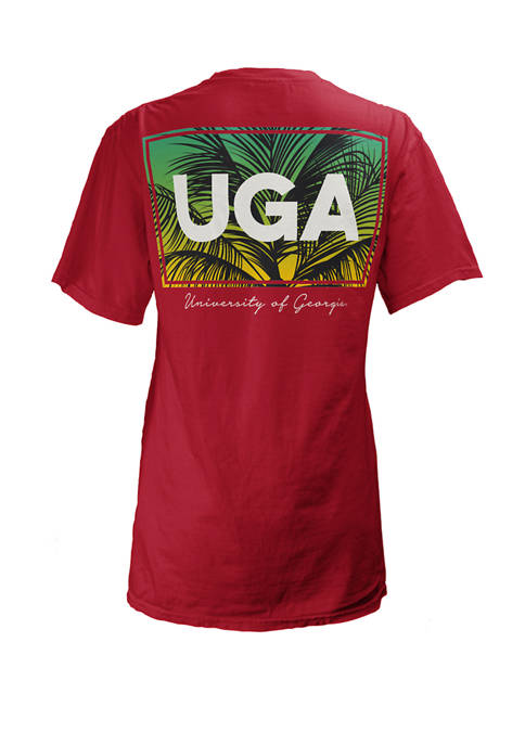 NCAA Georgia Bulldogs Short Sleeve Nahla Palm T-Shirt
