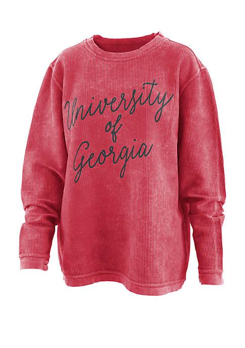 Georgia Bulldogs Rebecca Script Comfy T Shirt