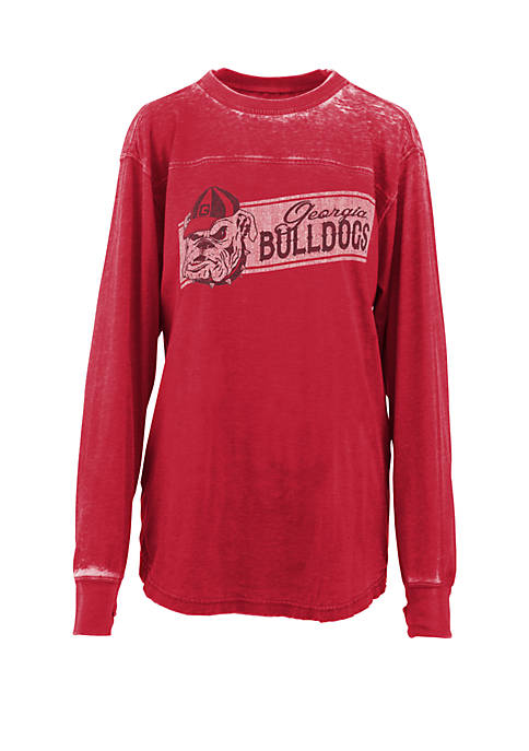 Pressbox UGA Stripes Vintage Wash T Shirt