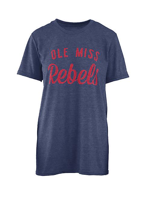 Ole Miss Rebels Crew Neck  Top