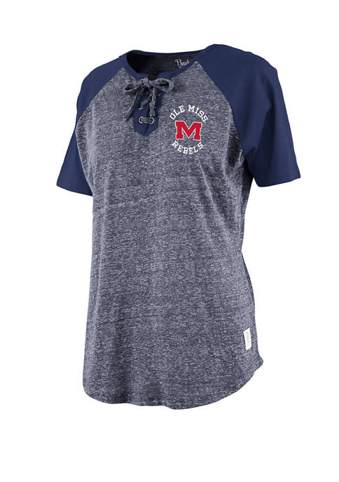 Womens NCAA Ole Miss Rebels Katelyn Lace Up T-Shirt