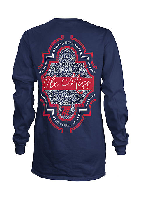ROYCE Long Sleeve Ole Miss Teagan Coastal Crew
