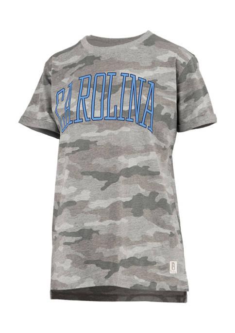 Womens NCAA UNC Tar Heels Camo T-Shirt