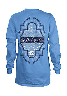 Long Sleeve UNC Teagan Coastal Crew Tee