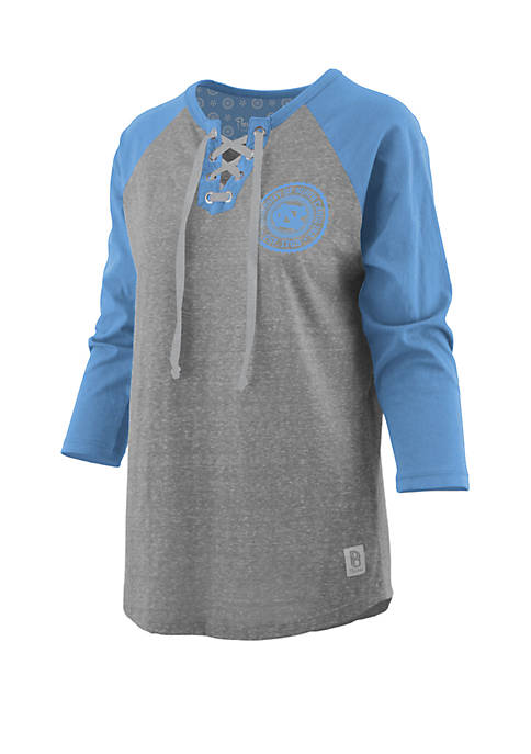 Pressbox UNC True Knobi Lace Up Raglan Sleeve