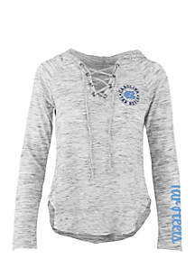 Long Sleeve UNC Kate Lace Neck Hooded Tee