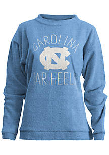 UNC Tarheels Thin Arch Mock Neck Twisted Terry Fleece Pullover