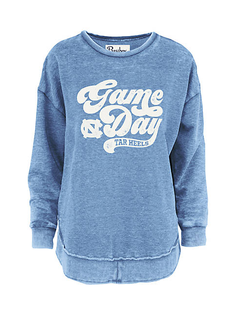 Pressbox UNC Retro Gameday Vintage Wash Fleece T