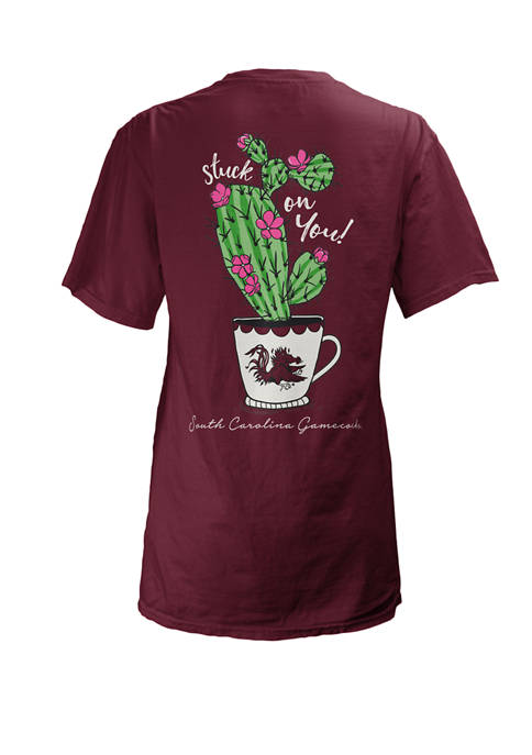 Womens NCAA USC Gamecocks Stuck On You T-Shirt
